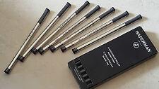 Refill ink cartouche encre gel WATERMAN plume pen rollerball ballpoint nib #Noir