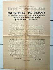 Affiche ancienne Avertissement Risque de crue Original Vintage French Poster