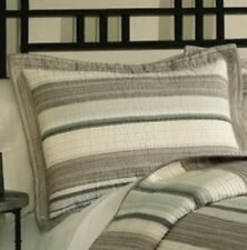 Chelsea Park East Hampton Standard Pillow Sham Only! Cotton Neutral Striped