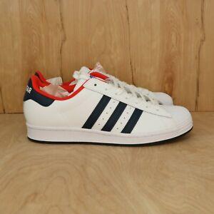 Adidas Originals Superstar White Navy Blue Red FV8270 Men's Top Ten VS Size 9.5