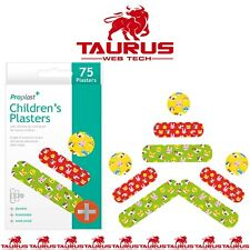 75x CHILDREN PLASTERS New Pack Kids Durable Breathable Fun Design Size Colour UK
