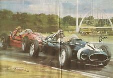 """STIRLING MOSS - F1 DRIVER personally signed photocopy of print 8"""" x 10"""""""