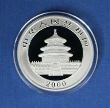 2000 China 1oz Silver Panda 10 Yuan coin in Capsule with COA