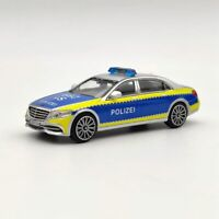 Master 1:64 Mercedes-Benz Maybach S-Class S600 Polizei Car Diecast Model Toys