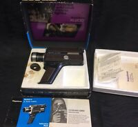Vintage Keystone XL200 Super 8 Movie Camera w Zoom Electric Eye Manual Case