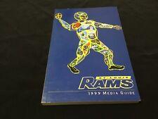 1999 ST. LOUIS RAMS MEDIA GUIDE