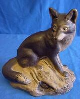 POOLE POTTERY BARBARA LYNLEY-ADAMS STONEWARE FOX & RABBITS WILDLIFE FIGURE