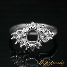 Ring Setting Sterling Silver  8x6mm.Oval.size  7