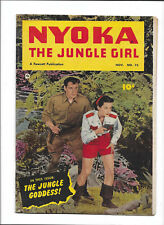 "NYOKA THE JUNGLE GIRL #73 [1952 VG-FN] PHOTO COVER!   ""THE JUNGLE GODDESS!"""