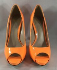 Truth or Dare by Madonna Orange Peep Toe Heels Woman's Size 6 MSRP $120