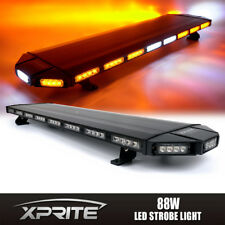 "Black Hawk 48"" Professional Amber LED Security Warning Roof Top Strobe Light Bar"
