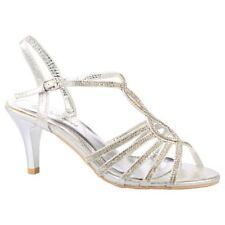 Sandali e scarpe slim in argento per il mare da donna