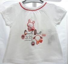La Compagnie des Petits tee-shirt blanc motif animaux  bébé fille 3 mois