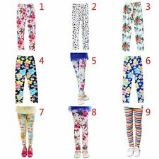 Toddler Kids Childrens Girl Leggings Butterfly Floral  Pattern Print Pants 2-13Y