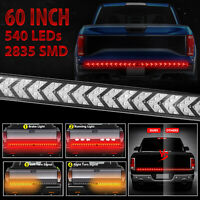 "60"" Truck Tailgate Strip LED Sequential Turn Signal Brake Tail Reverse Light Bar"