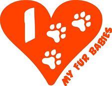 I Love Heart My Fur Babies Dog Animal Lover Window Wall Decal Puppy Sales Truck
