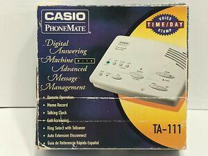 Casio PhoneMate TA-111 Digital Answering Machine Advanced Messaging Management