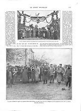 WWI Arc Triomphe Serbia Serbie Prince Alexander Belgrade Niš Nisch ILLUSTRATION
