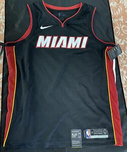 Nike Miami Heat Sz 52 swingman game style authentic wade lebron lot jersey
