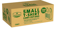 Member's Mark Grocery Convenience Store Small Thank You T-Shirt Bags, NEW