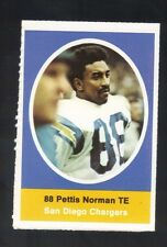 1972 SUNOCO STAMP PETTIS NORMAN SAN DIEGO CHARGERS