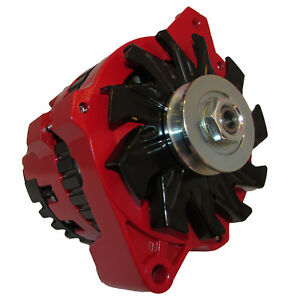 NEW 220 AMP HIGH OUTPUT RED ALTERNATOR FOR GM CHEVROLET 65-85 1-WIRE ONE WIRE