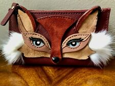 Sold Out NWT Kate Spade SO FOXY Applique FOX MIKEY Leather Medium Slim Wallet