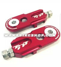 "TNT Bicycles 3/8"" BMX Chain Tensioners - Pair - w/ 6mm adapter - Red"
