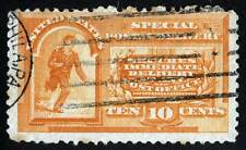 US Sc E3 Issue of 1893 Special Delivery Duplex w/Bars Machine? Cancel