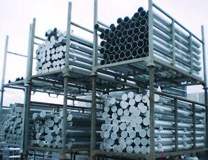 Round Metal Gate Posts - Hanging & Latch Post - Galvanised - Heavy Duty