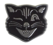 Sourpuss Jinx the Cat Horror Punk Gothic Tattoos Rockabilly Enamel Pin SPPIN49