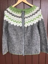 Icelandic hand knit sweater ,Cardigan , Size S,New knit , Nordic Sweater ,Gray
