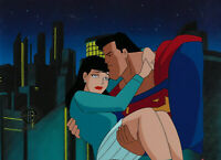 Warner Brothers Animated Series Orig Production Cel Superman/Lois Lane-Target