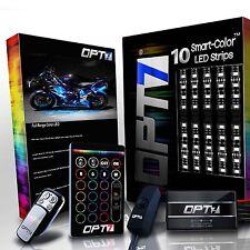 Dirt Bike LED Lighting Kit All-Color Motocross Body Neon Strips 10pcs