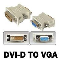 DVI-D DVI male 24+1PIN to VGA female SVGA 15PIN  video monitor  converter YS