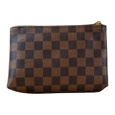 Brown Checkered Small Makeup Bag Cosmetics Bag, waterproof purse travel sized