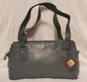 Great American Leatherworks Shoulder Bag Classic Field Grey Multi-Pockets