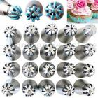 20Pcs Sphere Ball Stainless Steel Russian Icing Piping Nozzle Pastry Cupcake Tip