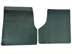 All-Weather Mats Fits Freightliner Cascadia 2008-2017-  2PC Black Diamond Plate