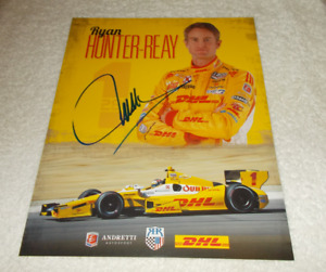2 RYAN HUNTER-REAY INDY 500 CHAMPION Racing DRIVER SIGNED Plaque Cards COA