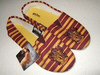 Women's Lg 9-10 Harry Potter Magic Gryffindor Crest Slip On Flats Costume Shoes