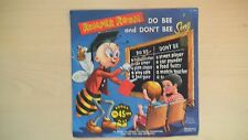 RARE Cricket Records Romper Room DO BEE AND DON'T BEE SONG 45rpm EP 60s