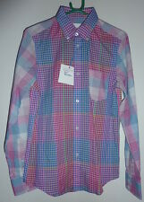 "Ben Sherman Tropical Punch Gingham Check L/S Shirt XS 34-36"" - Bnwt"