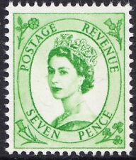 Gb qeii 1960 - 67 7d Verde Brillante Wilding fósforo Edición Definitiva Sg 617a