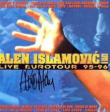 ALEN ISLAMOVIC CD Live Eurotour 95-96 original SIGNIERT Sa 100%Alenovim potpisom