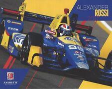 2017 INDY 500 ALEXANDER ROSSI USA ANDRETTI NAPA RACING INDYCAR 8x10 HERO CARD !