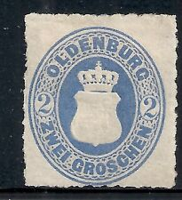 Oldenburg stamps 1862 MI 18A  MLH  VF