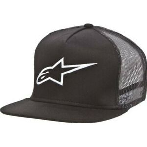 Alpinestars Corporate Trucker Hat - Navy, Red, or Black - One Size Snap Back