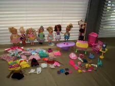 HUGE LOT OF KELLY BARBIE LITTLE SISTERS DOLLS WITH CLOTHES,FURNITURE AND ACCESSO