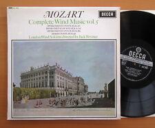 SXL 6053 ED1 Mozart Complete Wind Music Vol. 5 Jack Brymer NEAR MINT Decca WBG